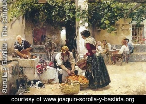 Joaquin Sorolla y Bastida - Orange seller