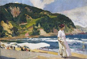 Joaquin Sorolla y Bastida - Maria on the beach, Zarauz