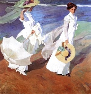 Joaquin Sorolla y Bastida - Promenade by the Sea