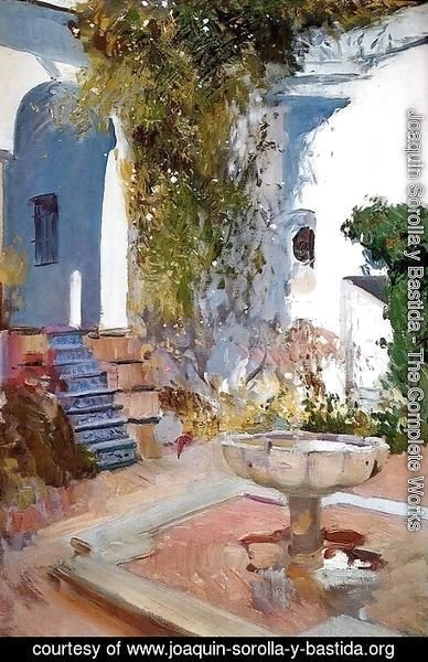 Joaquin Sorolla y Bastida - Fountain at the Alcazin Sevilla