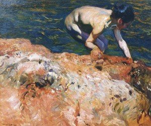 Joaquin Sorolla y Bastida - Looking for Shellfish 2
