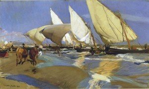 Joaquin Sorolla y Bastida - Return From Fishing 3